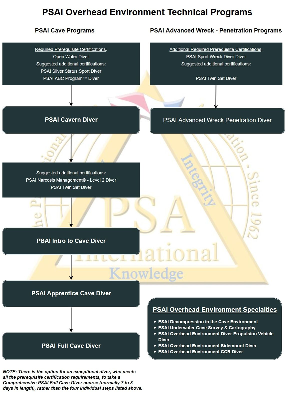 psai overhead environment technical programs flowchart
