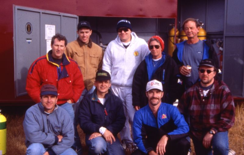 United States Deep Dive Team members at a Project Deep Desert dive. Bob Hambidge 2nd row far left. Gary Taylor front row 2nd from left.