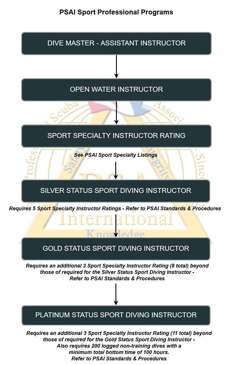 psai sport professional programs flowchart