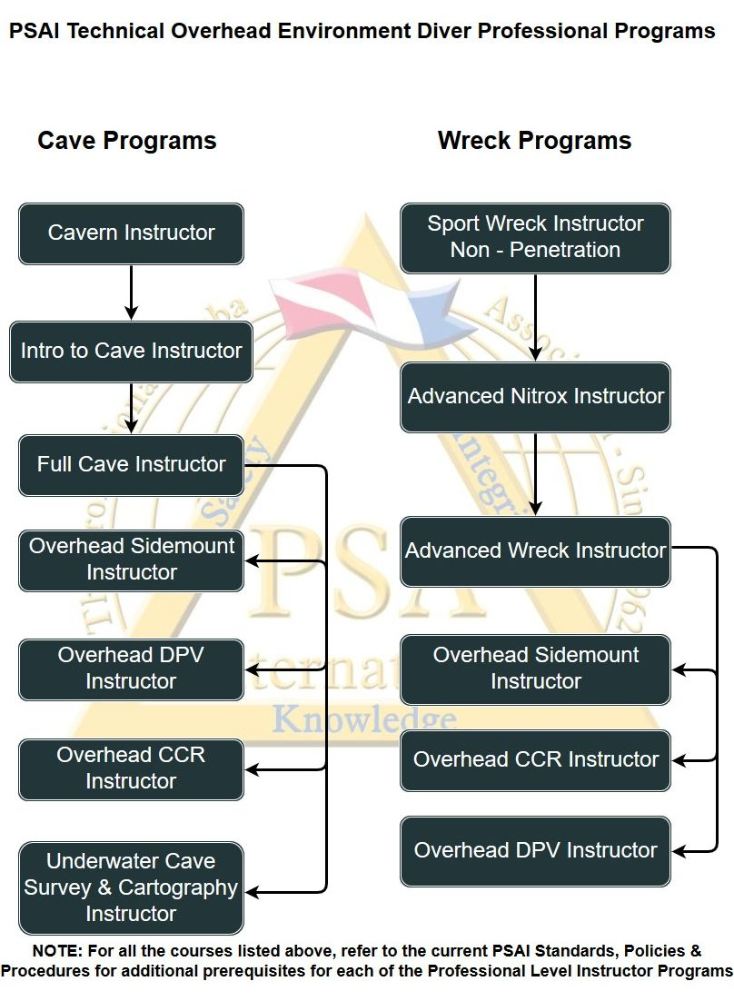 psai technical overhead environment diver professional programs flowchart