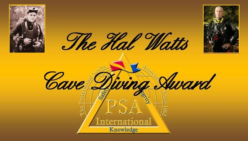 Hal Watts cave diving awards