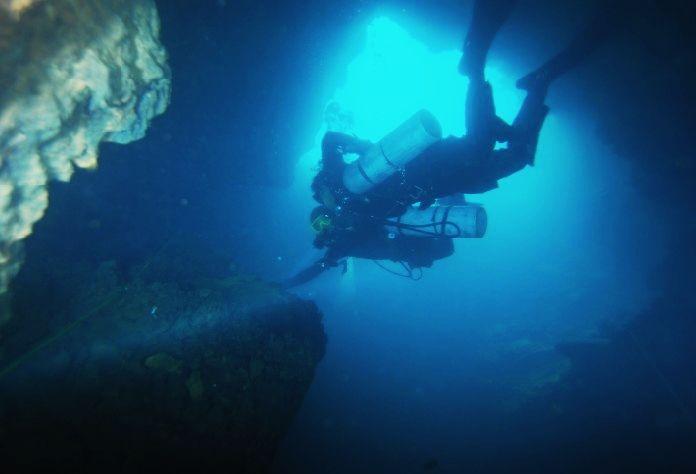 psai china cave diving in guangxi