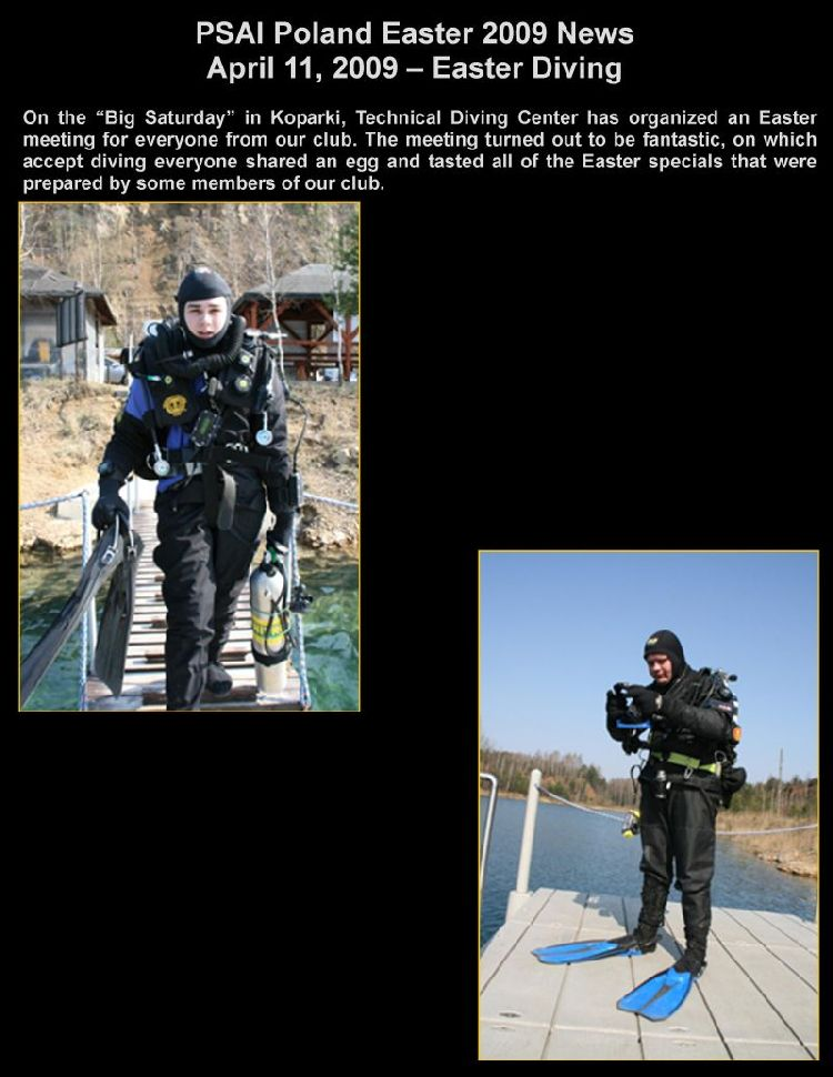 psai poland easter diving