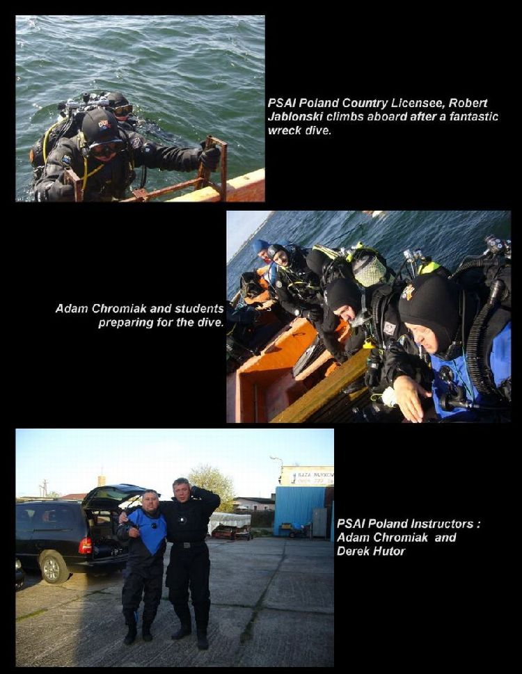 psai poland wreck diving
