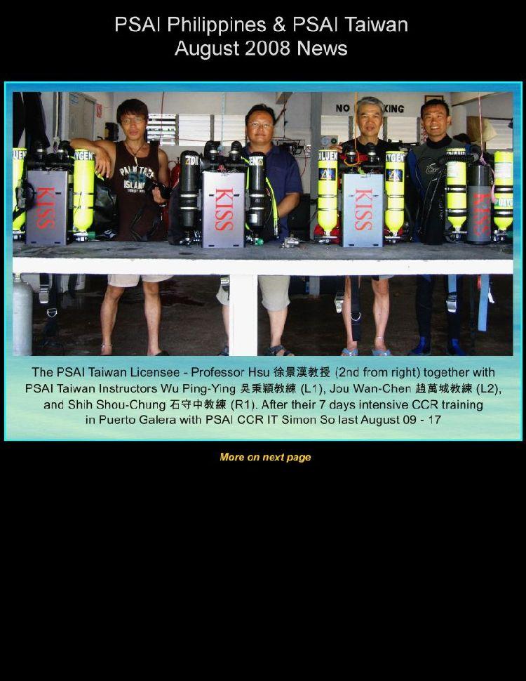 psai taiwan august 2008 news