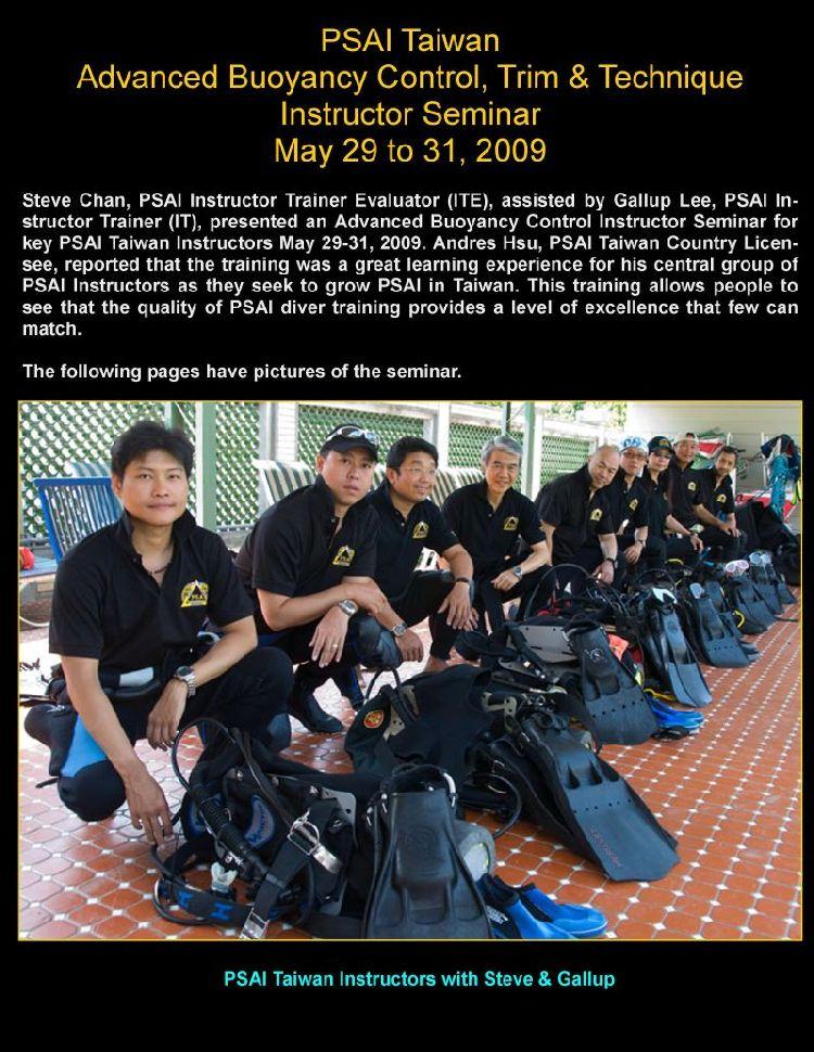 psai taiwan instructor seminar