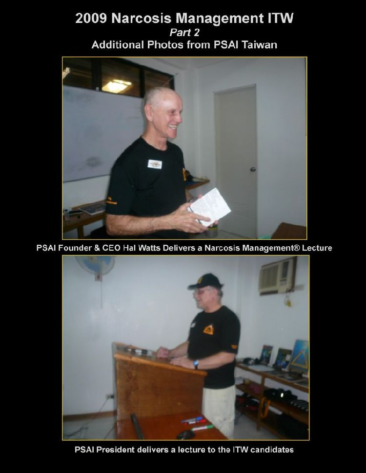 psai taiwan instructor trainer work shop